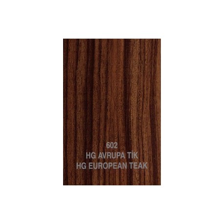 Mdf pg18mm european teak 602