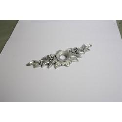 Ornament-buton-Gul-192mm-silver