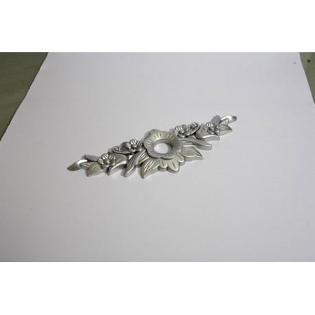 Ornament buton gul 192mm silver