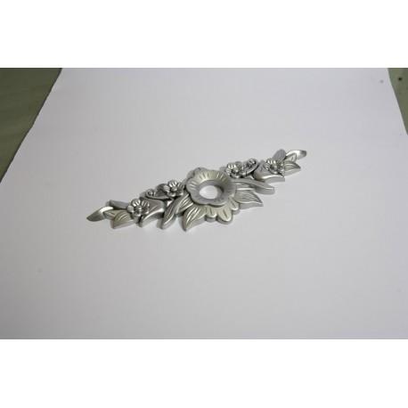 Ornament buton gul 192mm silver